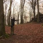 Bogenschießen Waldparcours Schütze mit Langbogen