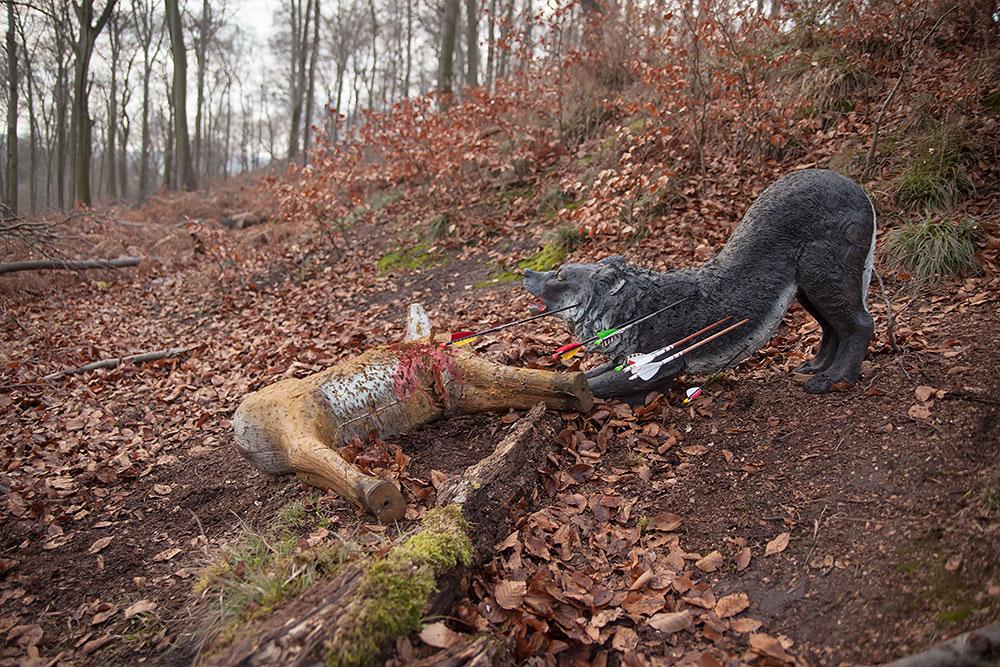 Bogenschießen Waldparcours 3D-Ziel Wolf und Reh