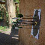 Bogenschießen Zielscheibe mit Pfeilen