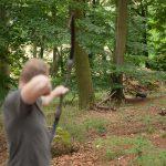 Pfeil und BogenWelt Dortmund Waldparcours, Schütze mit Recurve Bogen