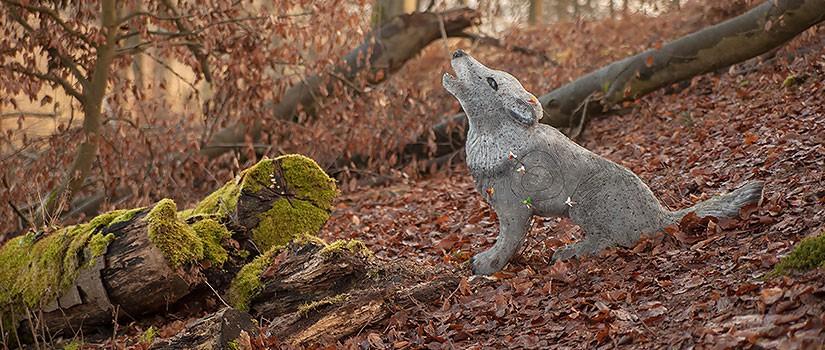 Bogenschießen Wolf 3D-Ziel im Wald