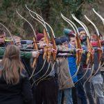 Pfeil und BogenWelt Dortmund Schützenreihe bei Veranstaltung