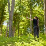 Pfeil und BogenWelt Dortmund Waldparcours, Bogenschießen Schützin mit Langbogen