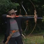 Bogenschütze mit Recurve Bogen